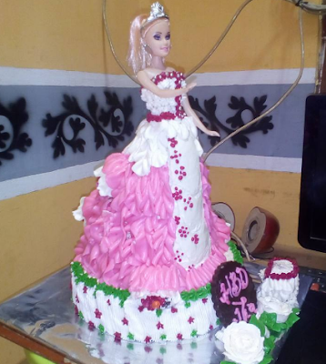 Bolu Kue Ulang Tahun New 2017 Untuk Anak Perempuan Motif Barbie / Priencess
