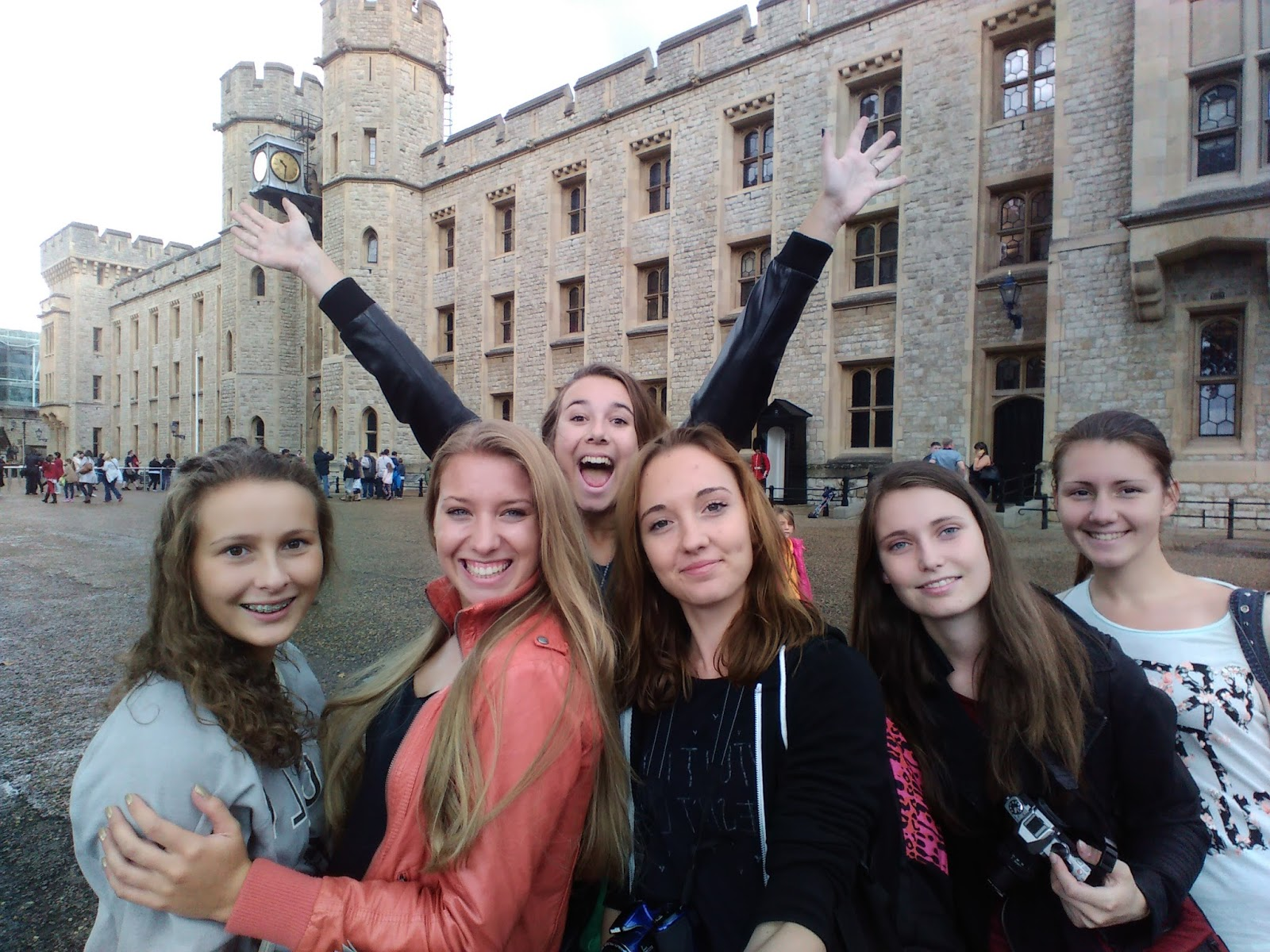 společná selfie u Tower of London
