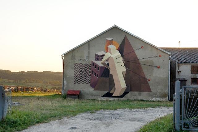 Street Art Mural By Jacyndol In Parchowo, Poland. - Landscape