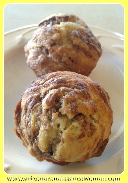 Banana Nutella Muffins with Toasted Hazelnuts