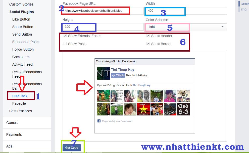 Tạo hộp like box facebook cho blogspot đơn giản nhất