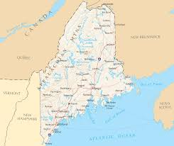 Map of Maine State Map of USA