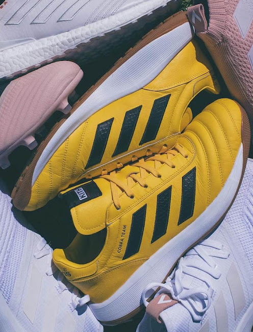 pretty nice fba39 b52c3 Adidas x Kith Cobra Team Boots - Yellow  White  Black