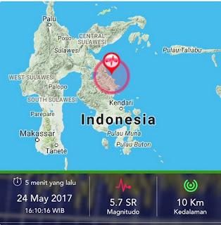 Gempa di Malang 24 mei 2017 BMKG