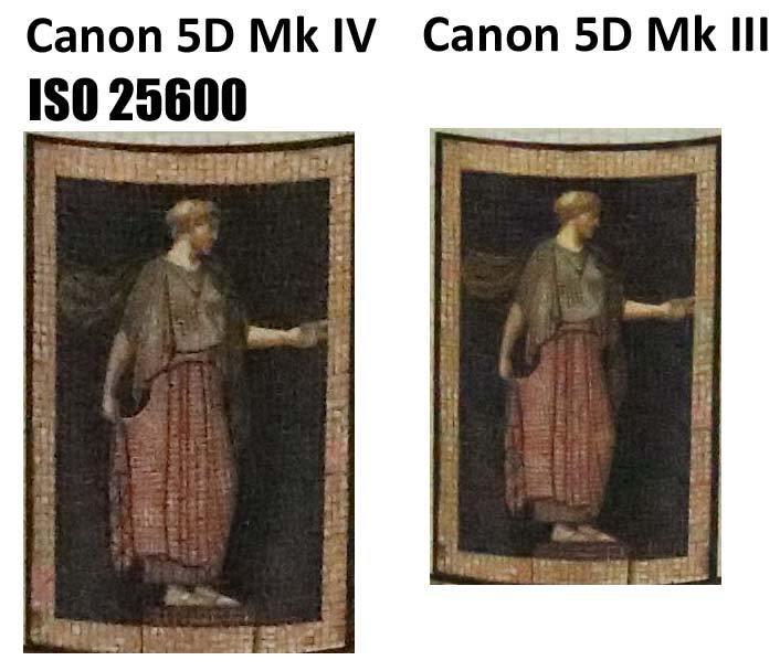 Сравнение Canon 5D Mark IV и 5D Mark III при чувствительности ISO 25600