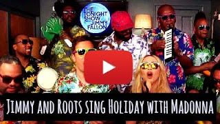 Watch Jimmy Fallon, Roots and Madonna sing the classic Holiday track on the tonight show via geniushowto.blogspot.com amazing music videos and singers