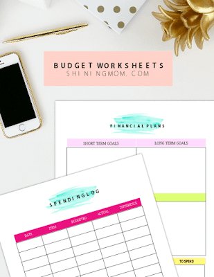 budget worksheets to print