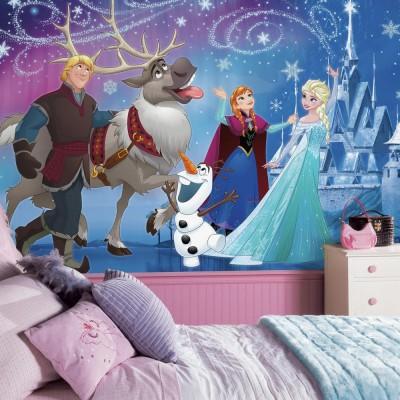Disney tapetti frost jäinen disney taustakuva valokuvatapetti 3d Lastenhuone tyttö tytön lapsi taustakuva Fund tapetti