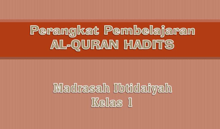 RPP Silabus Promes Mapel al-Quran Hadits MI Kelas 1 Kurikulum 2013 Revisi 2017