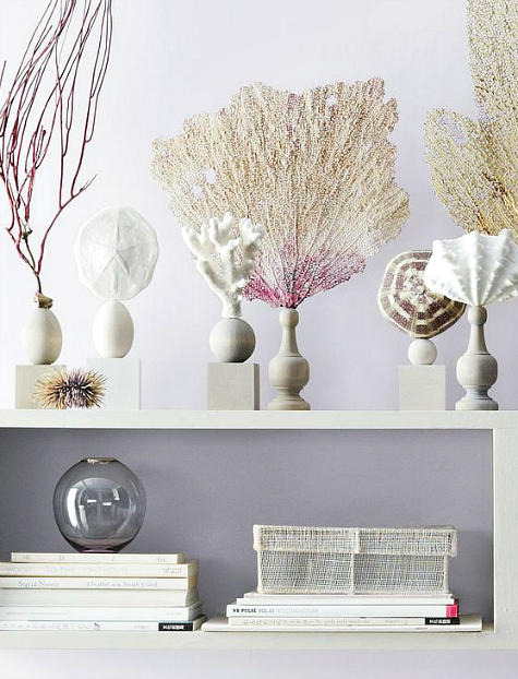 Wooden Pedestals by Martha Stewart