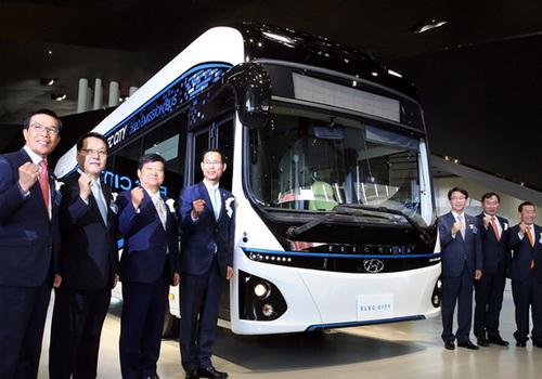 Tinuku Hyundai Motor launched electric-powered bus Elec City