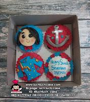 Cupcake Tentara Fondant 2D