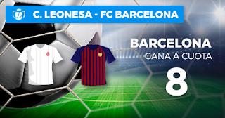 Paston Megacuota Cultural Leonesa vs Barcelona 31 octubre