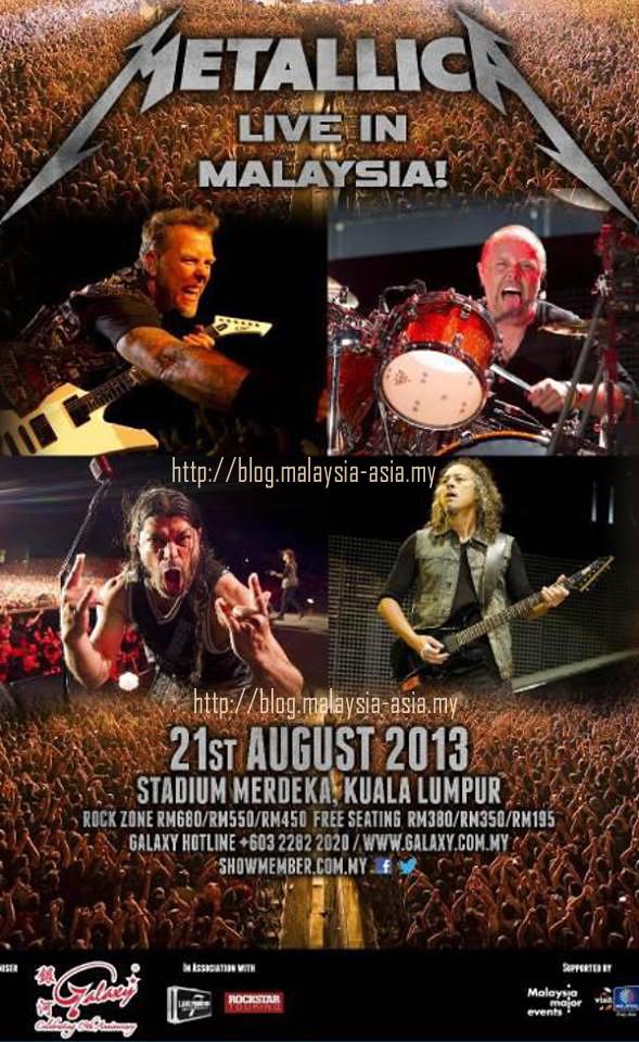 Malaysia Metallica Live Poster