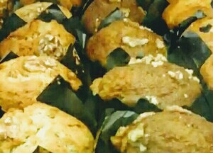Resep kue muffin pisang topping walnut