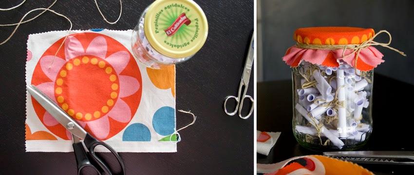 Regalo handmade para San Valentín hecho con bote de cristal y mensajes7
