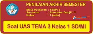 dengan membuka kembali soal UTS ganjil sebelumnya 35 Soal UAS Tema 3 Semester 1 Kelas 1 Terbaru dan Kunci Jawaban