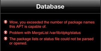 Fix Cydia Error : Exceeded the Number of Package Names This APT is Capable of : Cydia Apple