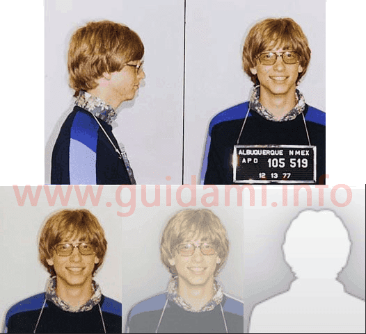 Bill Gates Foto segnaletica e sagoma Outlook 2010
