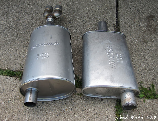 pontiac grand prix mufflers, exhaust, cost, size