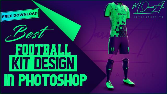 Best Football Kit Design Tutorial + Free Yellow Image Mockup by M Qasim Ali