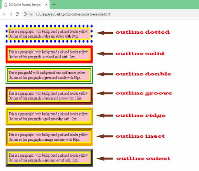 CSS-outline-property-example