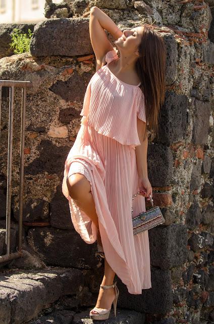 abito-lungo-plissettato-rosegal
