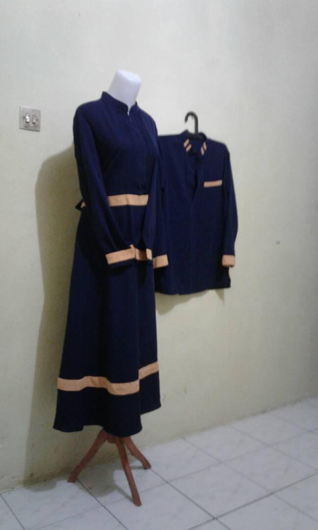 Baju Couple Gemuk Bk0231 Batik Dress Couple Suami Istri Baju Gamis