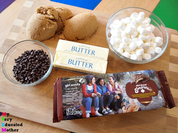 All you really need is a few ingredients to create Girl Scout Cookie S'mores Candy.