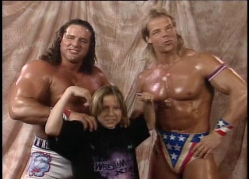 WWF / WWE: Wrestlemania 11 - Home Improvement's Jonathan Taylor Thomas with Lex Luger and British Bulldog