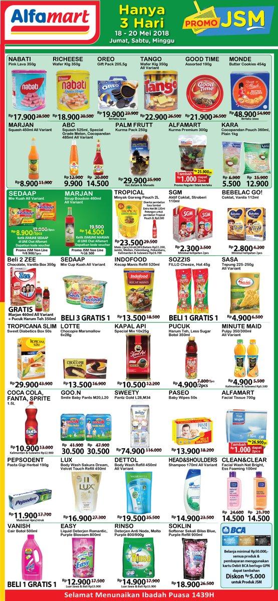Alfamart Katalog Promo Jumat Sabtu Minggu 18 20 Mei 2018 Promosi247 Promosi Katalog Dan Diskon Tokopedia Superindo Indomaret Giant Ovo Gopay Dll
