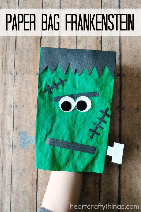 Paper Bag Frankenstein Craft For Kids