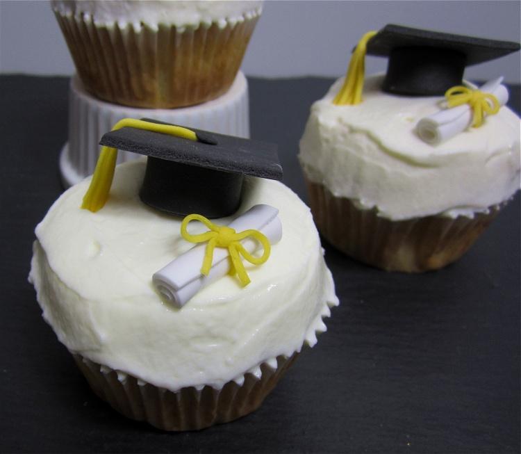 DIY/Tutorial Doktorhut-Cupcakes 2