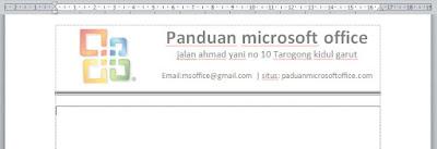 cara menciptakan kop surat di ms word dengan logo