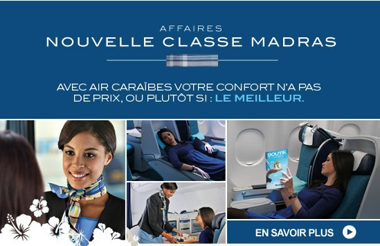 Classe Madras de la classe affaire Air Caraibes.