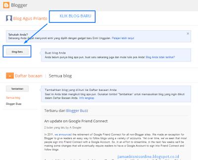Cara Membuat Blog gratis di Blogspot terbaru