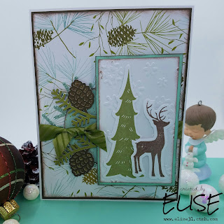 Oh Deer! Close to My Heart card created by Elise Christmas card and Cricut Design Space found on www.facebook.com/elisectmh