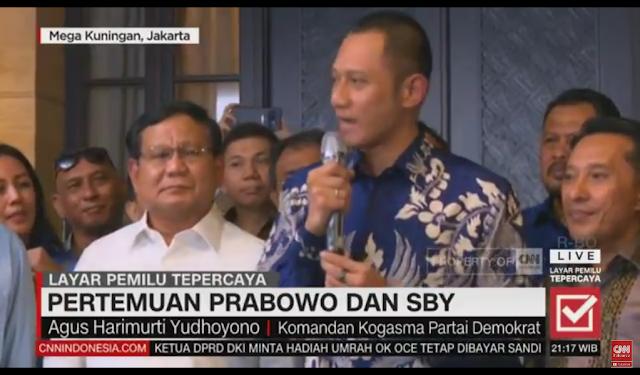 Tegas! AHY: Demokrat Akan Bersama-Sama Dengan Pak Prabowo dan Bang Sandi