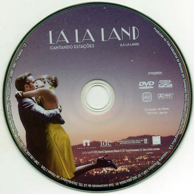 Label DVD La La Land (Oficial)