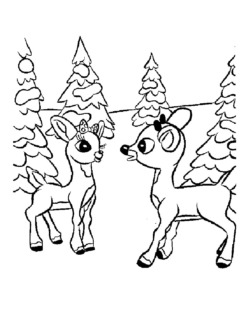 reindeer coloring pages free | 11 Rudolph Reindeer Coloring Pages >> Disney Coloring Pages