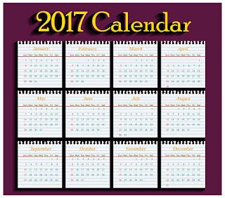 2017カレンダー無料テンプレート23