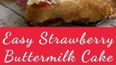 Easy Strawberry Buttermilk Cake