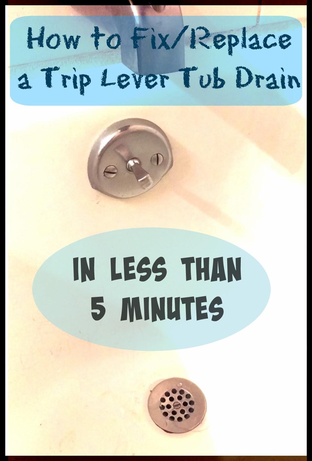 Trip Lever Tub Drain Won T Stay Open Mycoffeepot Org