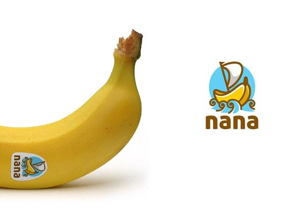 Inspirasi Desain Logo Kreatif 2017 - Banana Logo Design