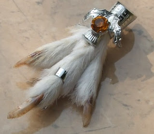 Scottish ptarmigan grouse foot brooch