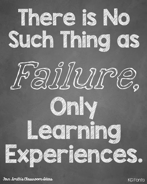 Fern Smith's Classroom Ideas on Tuesday Teacher Tips: Failure Is Just a Learning Experience Freebie.