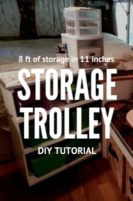 Build a rolling Storage Trolley Use all the space in your small space!