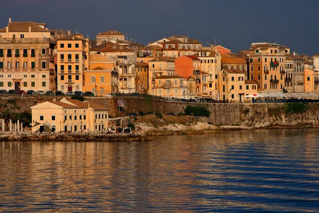 Kerkira. with sea view. Corfu. Greece. Керкира. Вид с моря. Корфу. Греция.