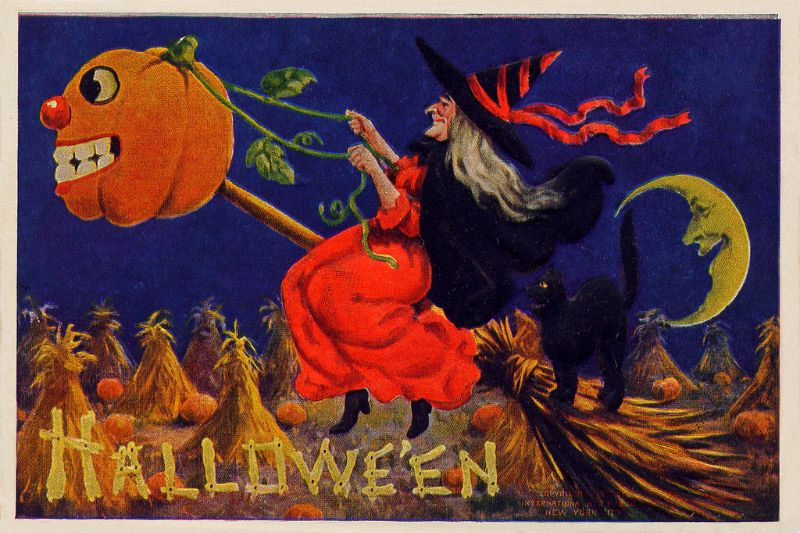 A Collection Of Bizarre Halloween Postcards From The Early 20th