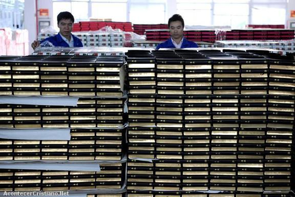 Fabrica de Biblias en China